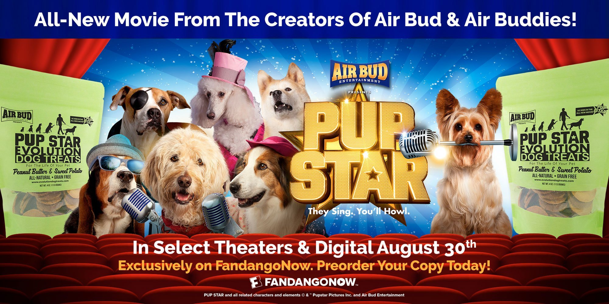 Pup Star Evolution Dog Treats Movie Promotion